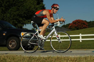 on the bike for the GFT super sprint 2010 triathlon