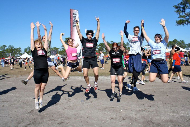 Group of friends at Warrior Dash